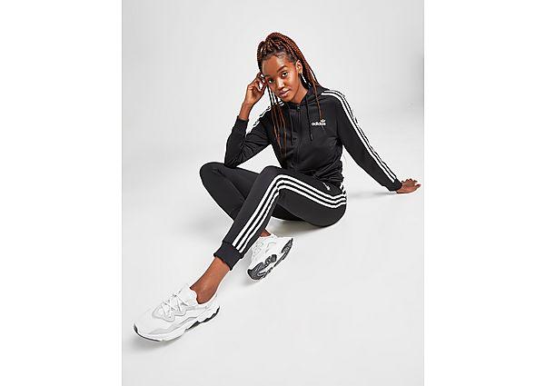 Ropa deportiva Mujer adidas Originals pantalón de chándal 3-Stripes Linear Poly, Black/White