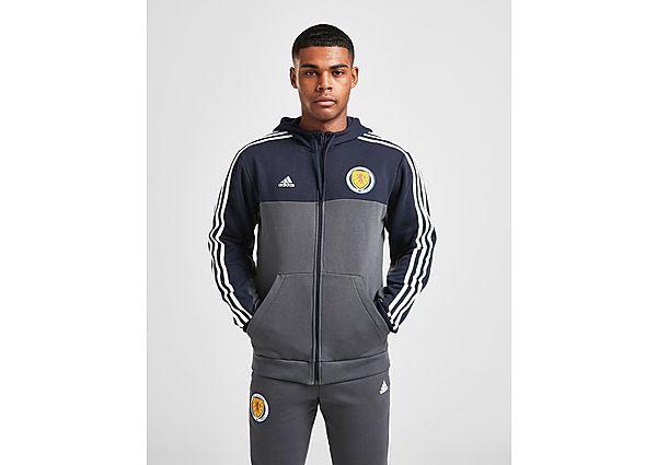 adidas chaqueta con capucha selección de Escocia 3-Stripes, Blue/Grey