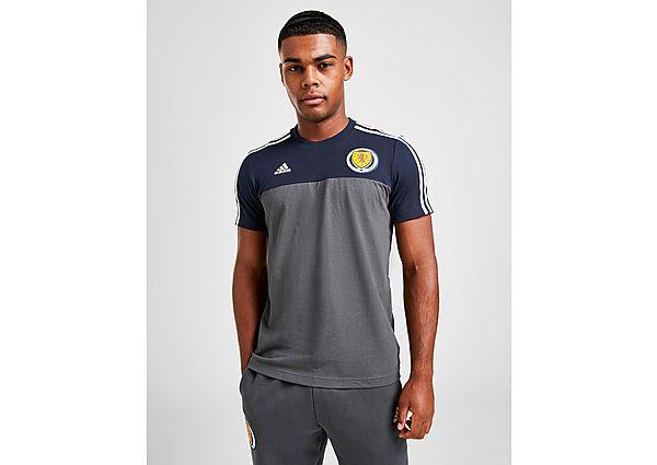 adidas camiseta selección de Escocia 3-Stripes, Blue/Grey