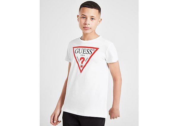 Comprar Ropa deportiva para niños online GUESS camiseta Triangle Logo júnior, White