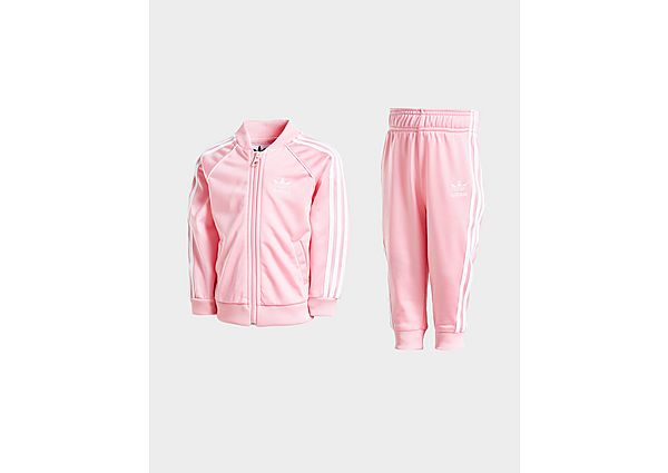 Adidas Originals Girls' SS Tracksuit Infant - Light Pink / White - Kind