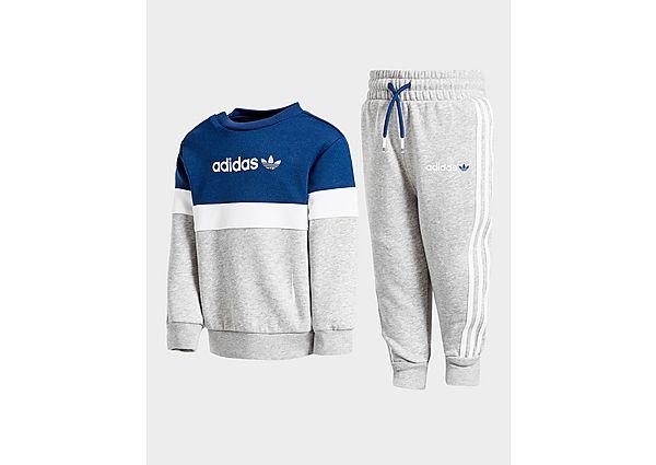 Adidas Originals Challenger Crew Tracksuit Infant  - Grey/Blue/White - Kind