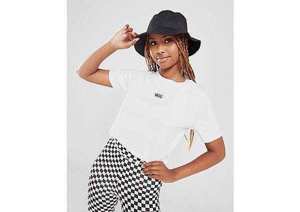 Ropa deportiva Mujer Vans camiseta Crop Flying V Small Logo, White