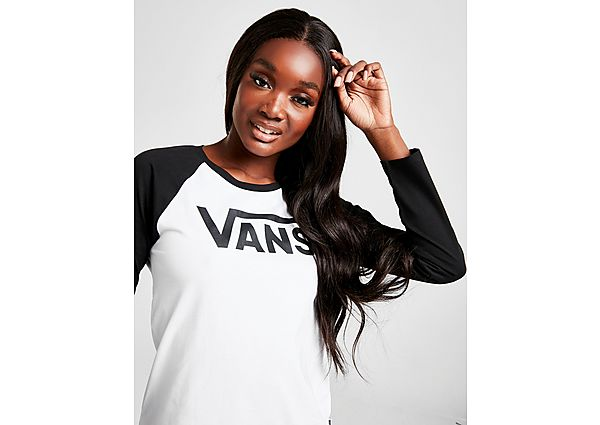 Ropa deportiva Mujer Vans camiseta de manga larga Flying V Raglan, White