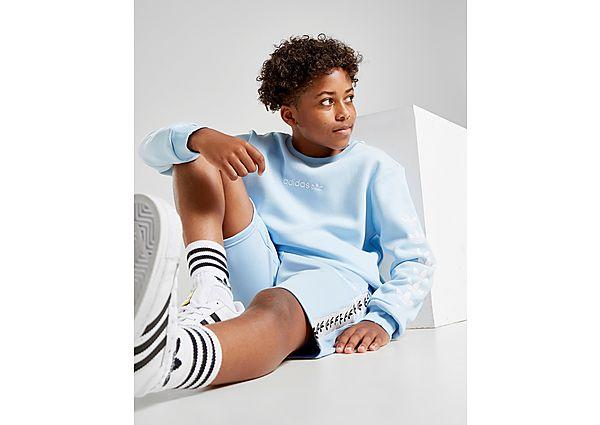 Comprar deportivas adidas Originals sudadera Trefoil Repeat júnior, Blue/White
