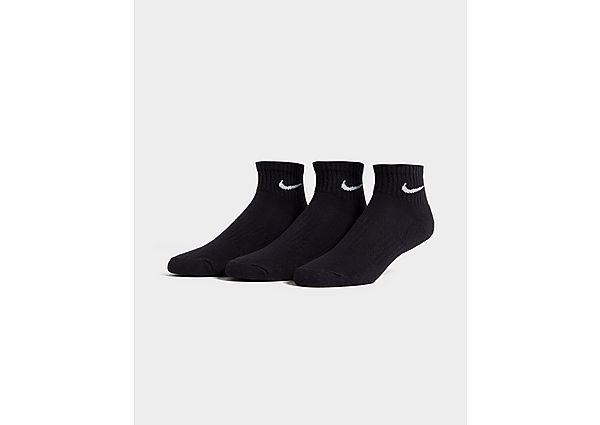 Nike pack de 3 calcetines Cushioned Quarter, Black