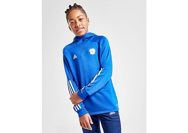 adidas Cardiff City FC Hoodie Junior