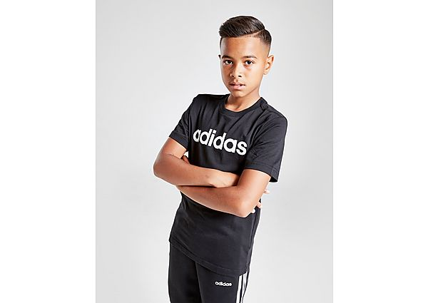Comprar Ropa deportiva para niños online adidas camiseta Linear júnior, Black