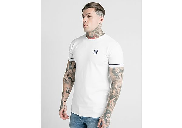 SikSilk camiseta Cuffed, White