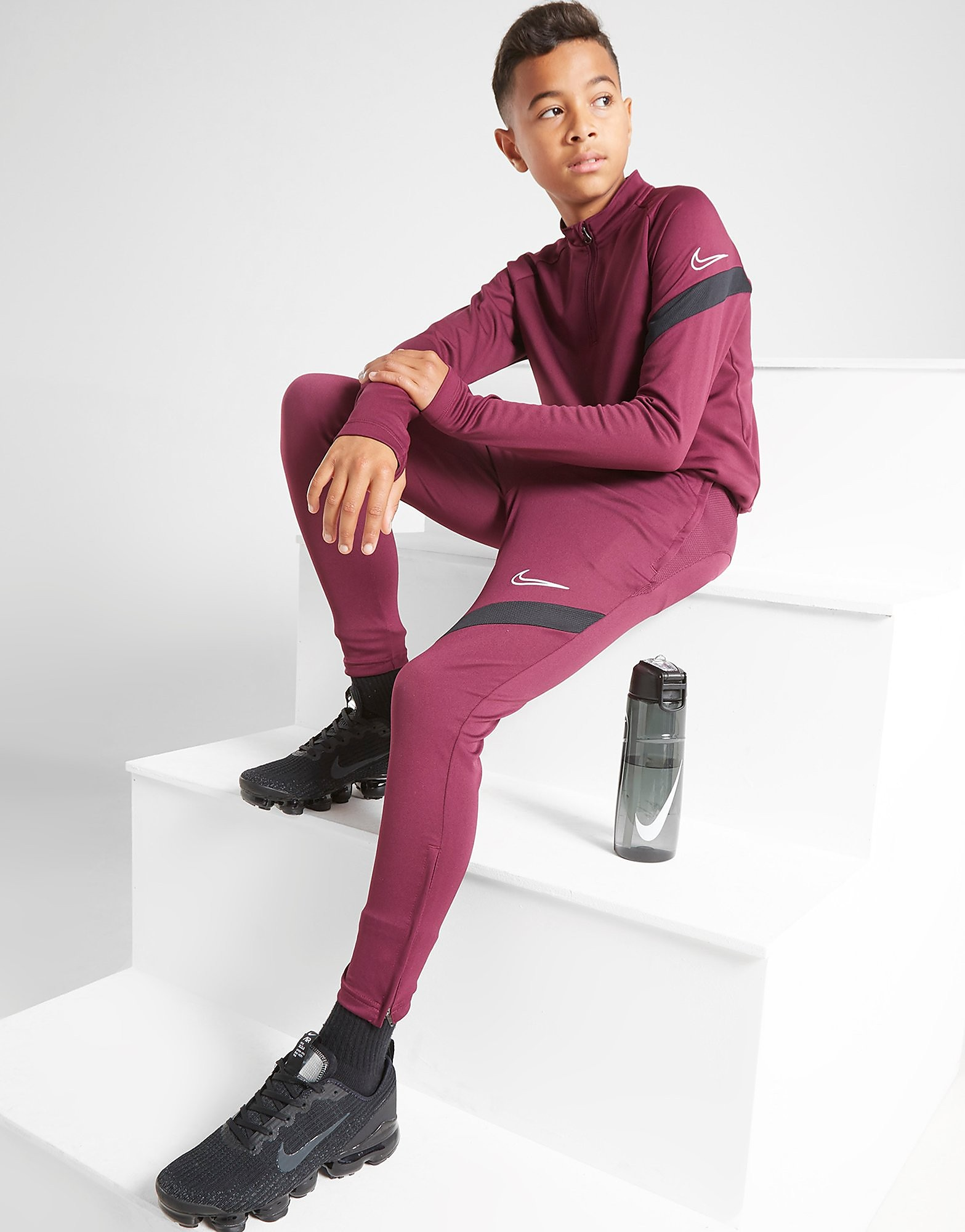 Nike Dri-FIT 1/4 Zip Academy Pro Track Top Junior - Only at JD, Burgundy