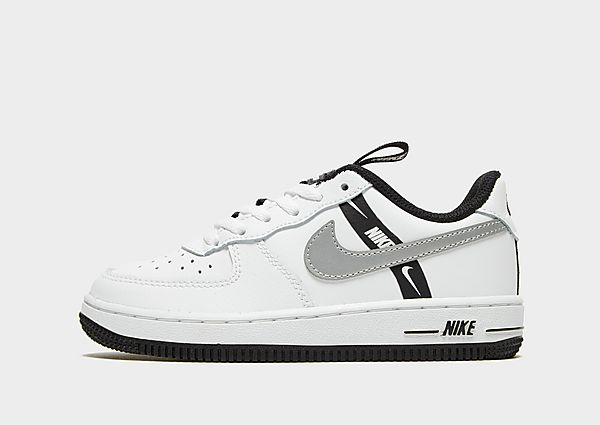 Nike Air Force 1 '07 LV8 Kinderen - White/Reflect Silver/Black - Kind, White/Reflect Silver/Black