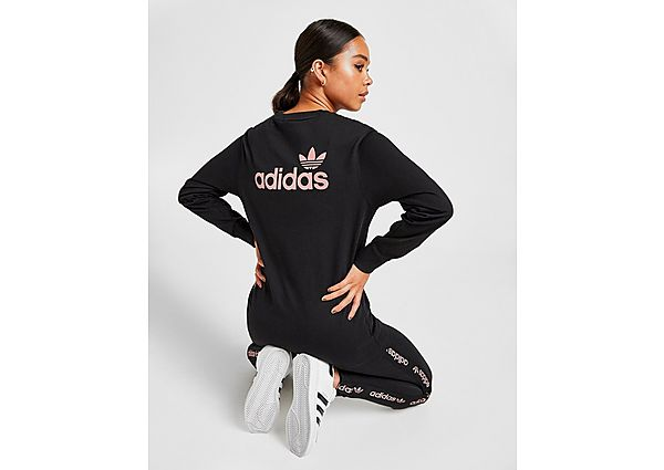 Ropa deportiva Mujer adidas Originals Linear Glossy Long Sleeve T-Shirt