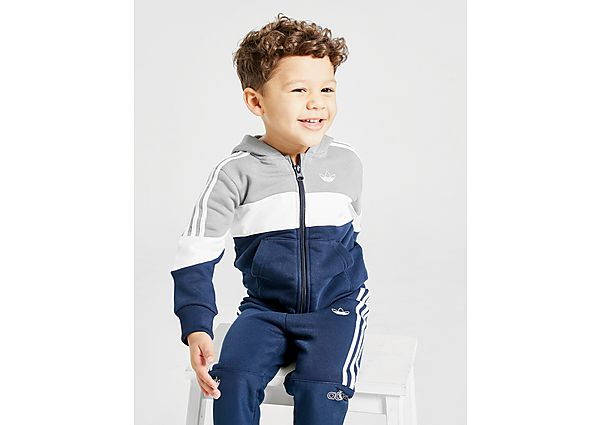 Adidas Originals Spirit 2.0 Full Zip Tracksuit Infant  - Navy/White/Grey - Kind