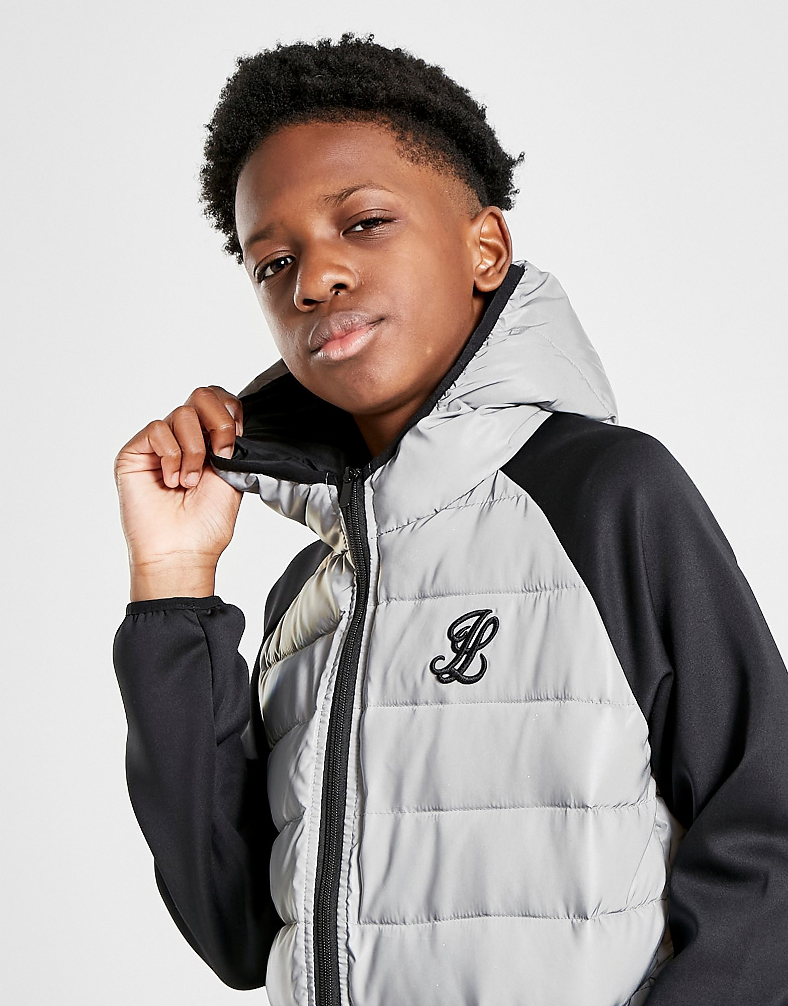 ILLUSIVE LONDON Reflective Jacket Junior - Only at JD, Grå