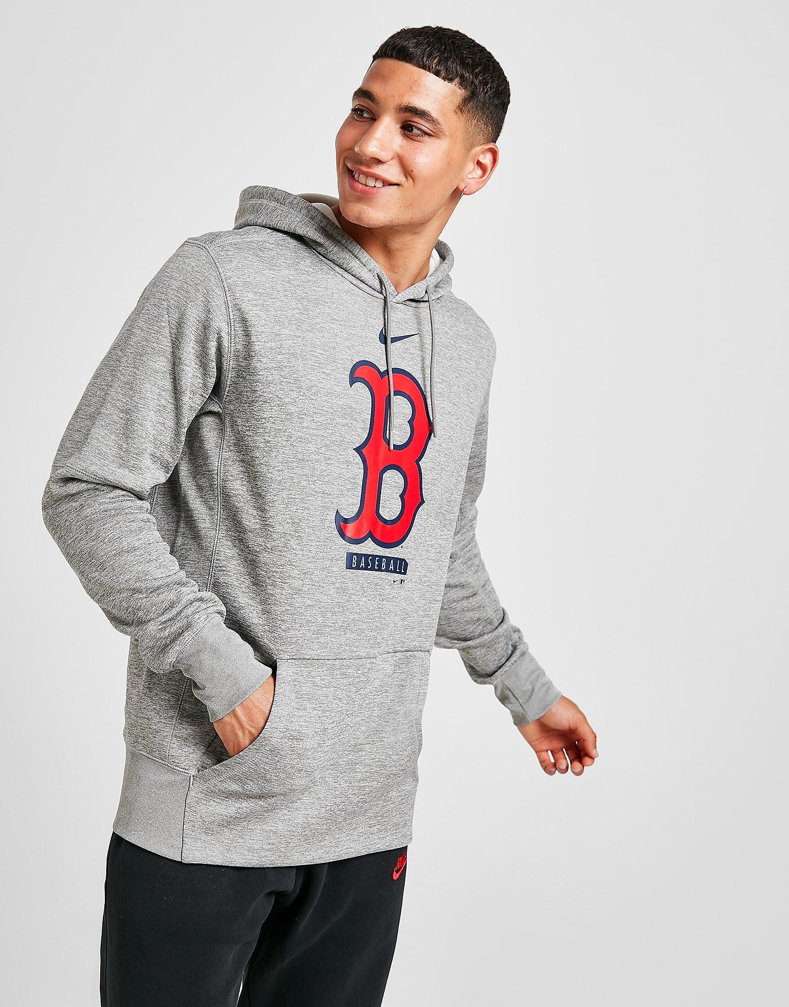 Nike Boston Red Sox Therma Performance Hoodie, Grå
