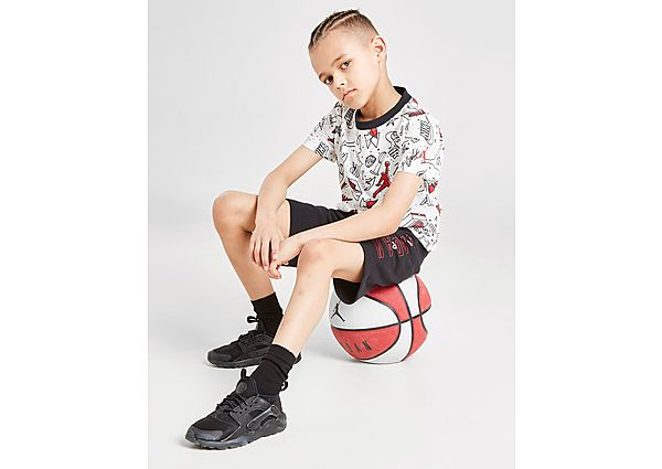 Comprar Ropa deportiva para niños online Jordan conjunto camiseta/pantalón corto Flight All Over Print infantil