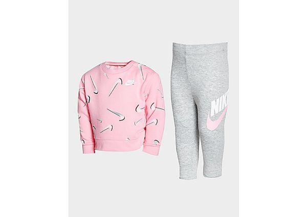 Comprar Ropa deportiva para niños online Nike Girls' Swoosh Crew Sweatshirt/Leggings Set Infant