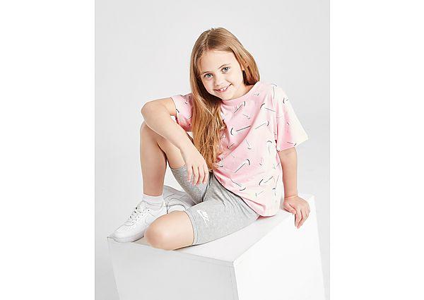 Comprar Ropa deportiva para niños online Nike Girls' Swoosh T-Shirt/Cycle Shorts Set Children