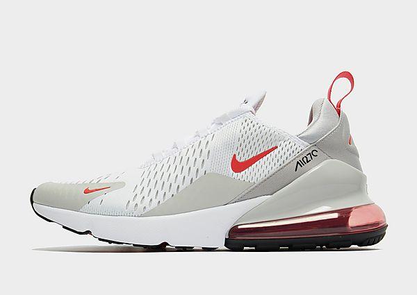 Nike Nike Air Max 270 Zapatillas - Hombre, White/Grey Fog/Black/Light Fusion Red