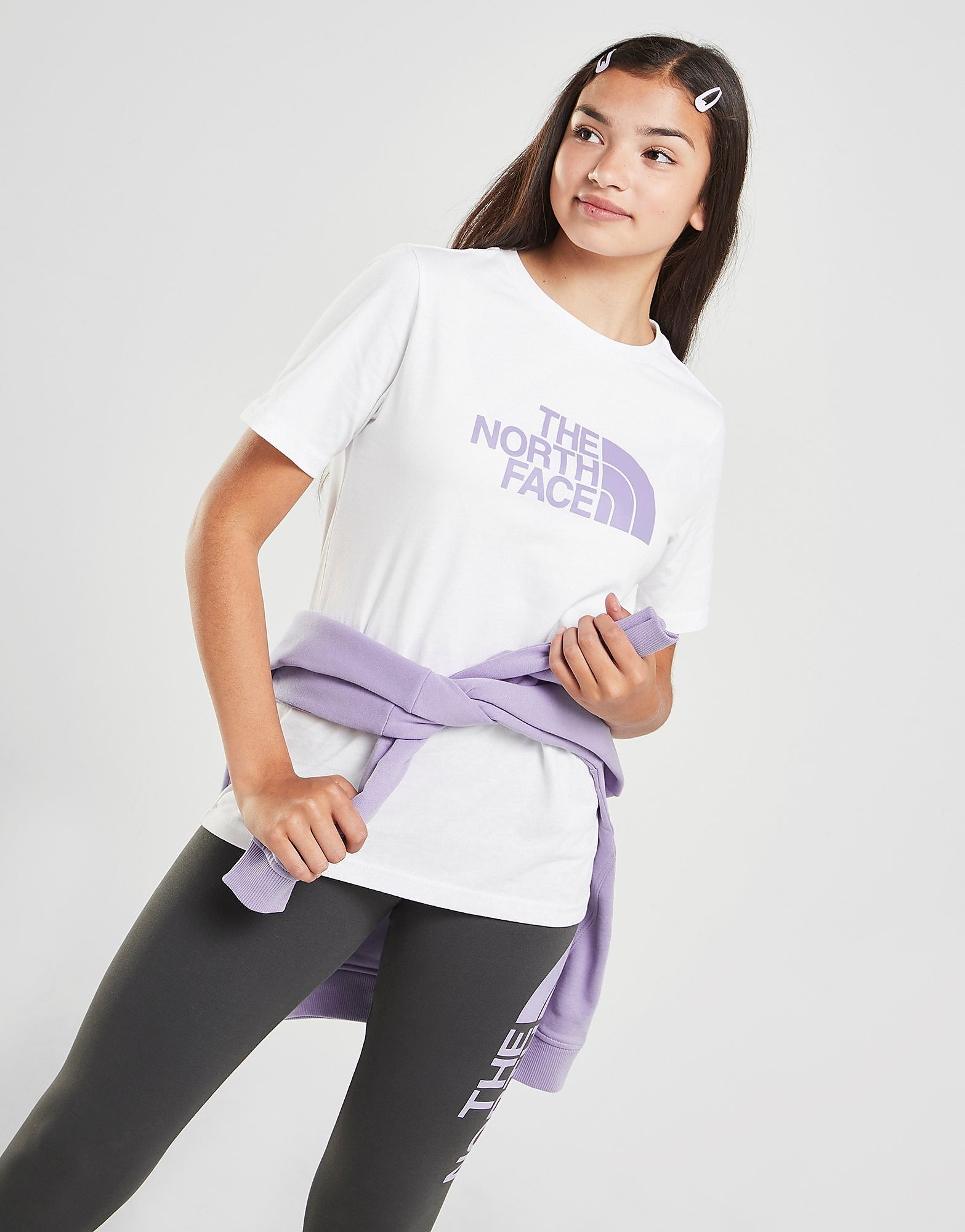 The North Face Girls' Easy Boyfriend T-Shirt Junior, Vit