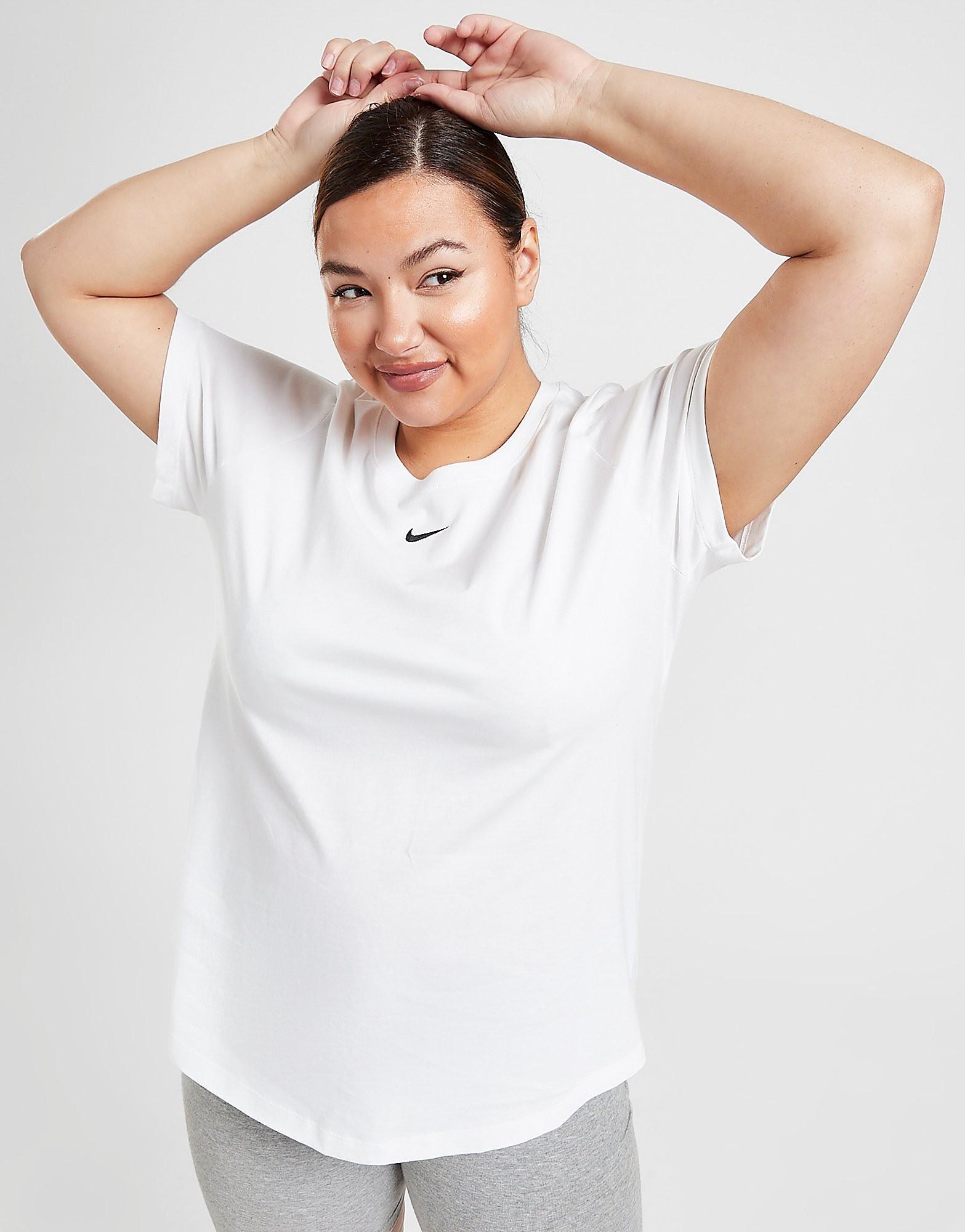 Nike Plus Size Boyfriend T-Shirt Dam, Vit