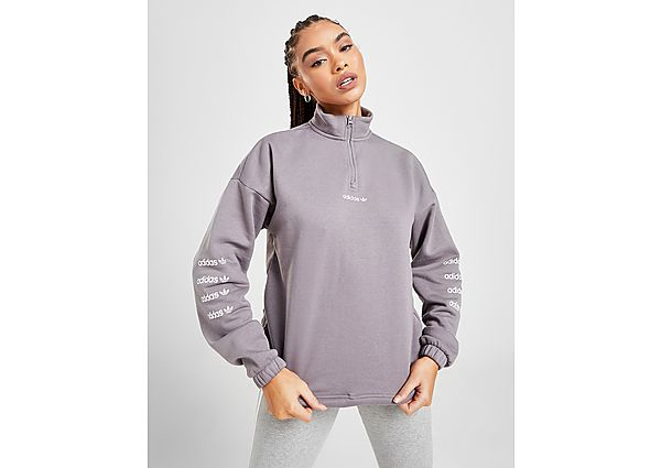 Ropa deportiva Mujer adidas Originals Repeat Linear 1/4 Zip Sweatshirt