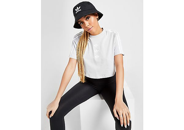 Ropa deportiva Mujer adidas Originals 3-Stripes Repeat Trefoil Crop T-Shirt