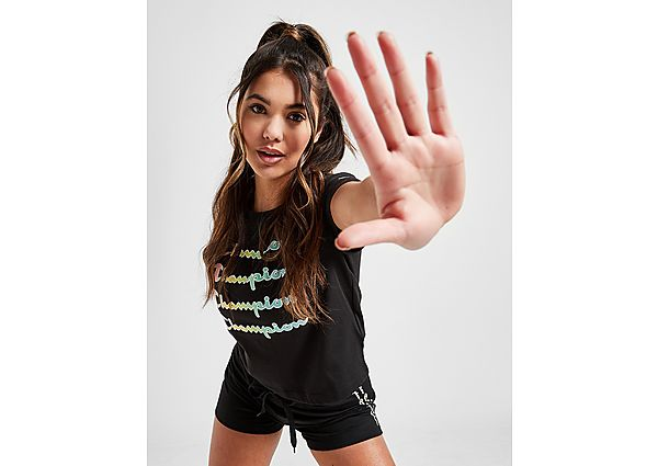 Ropa deportiva Mujer Champion camiseta Ombre Repeat Logo