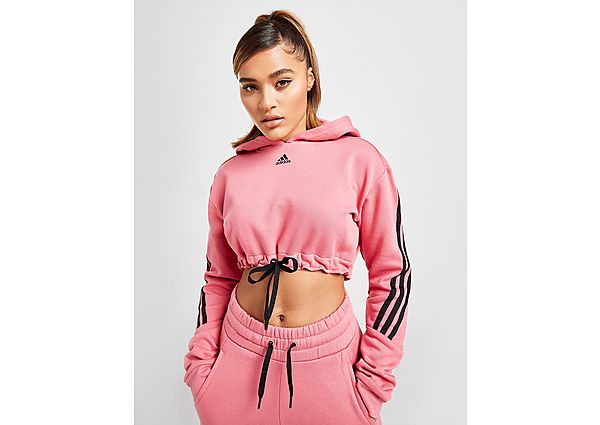 Ropa deportiva Mujer adidas 3-Stripes Micro Crop Hoodie