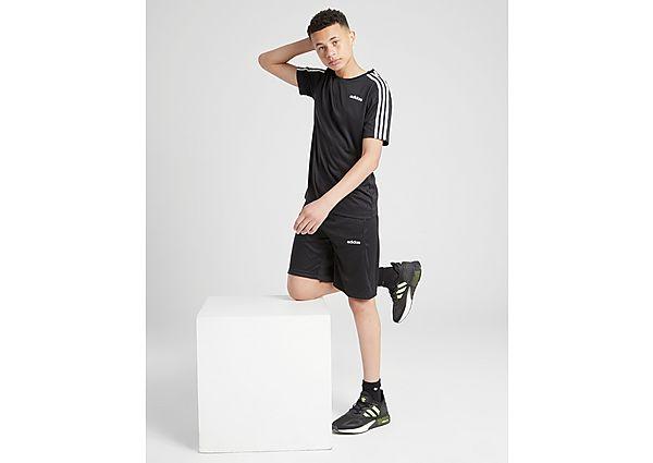 Comprar Ropa deportiva para niños online adidas conjunto 3-Stripes camiseta/pantalón corto júnior, Black