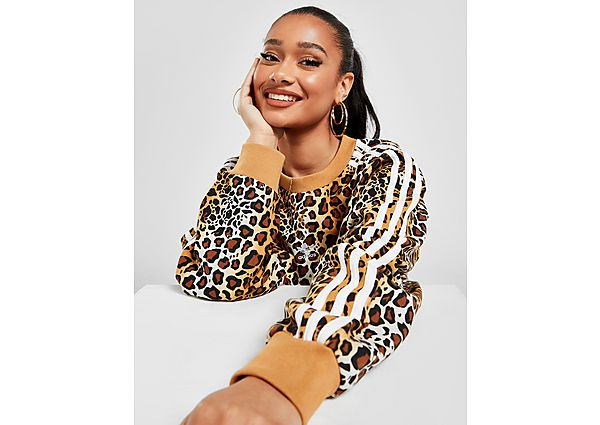 Ropa deportiva Mujer adidas Originals sudadera Leopard Luxe