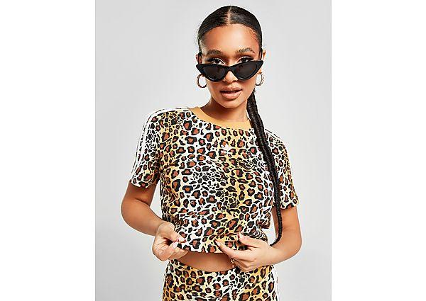 Ropa deportiva Mujer adidas Originals camiseta Crop Leopard Luxe