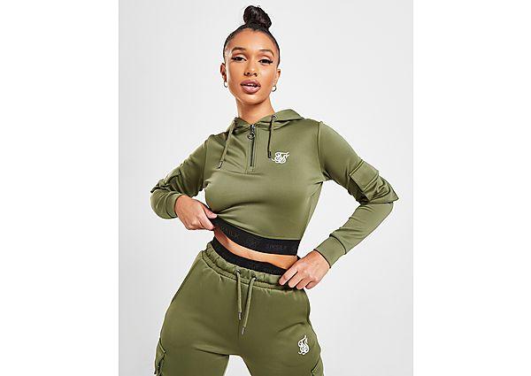 Ropa deportiva Mujer SikSilk Cargo Pocket Crop Hoodie