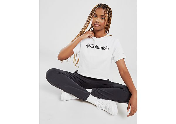 Ropa deportiva Mujer Columbia camiseta crop Logo