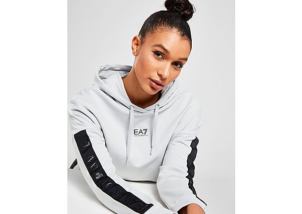 Ropa deportiva Mujer Emporio Armani EA7 sudadera Crop con capucha Tape