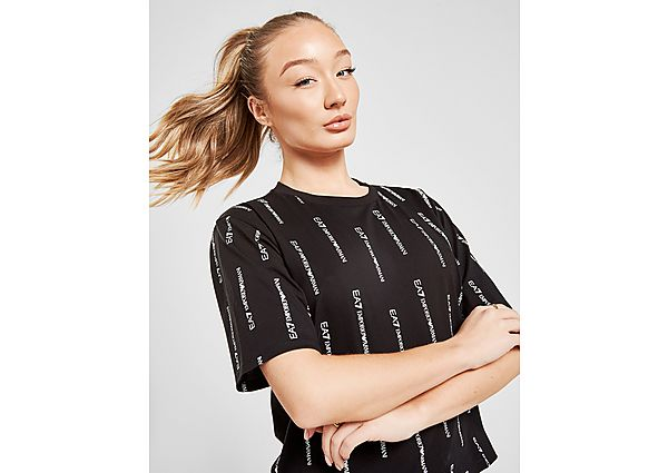 Ropa deportiva Mujer Emporio Armani EA7 camiseta Crop All Over Print Logo