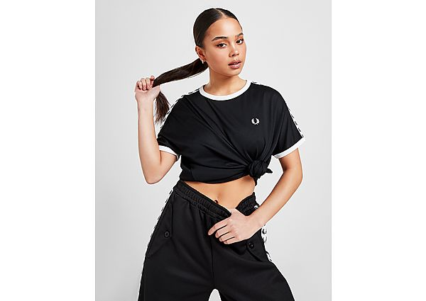 Ropa deportiva Mujer Fred Perry Mesh Taped Ringer T-Shirt