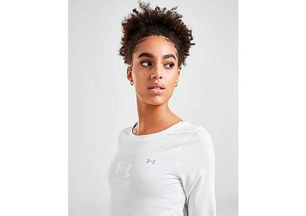 Ropa deportiva Mujer Under Armour camiseta de manga larga HeatGear Armour, Silver