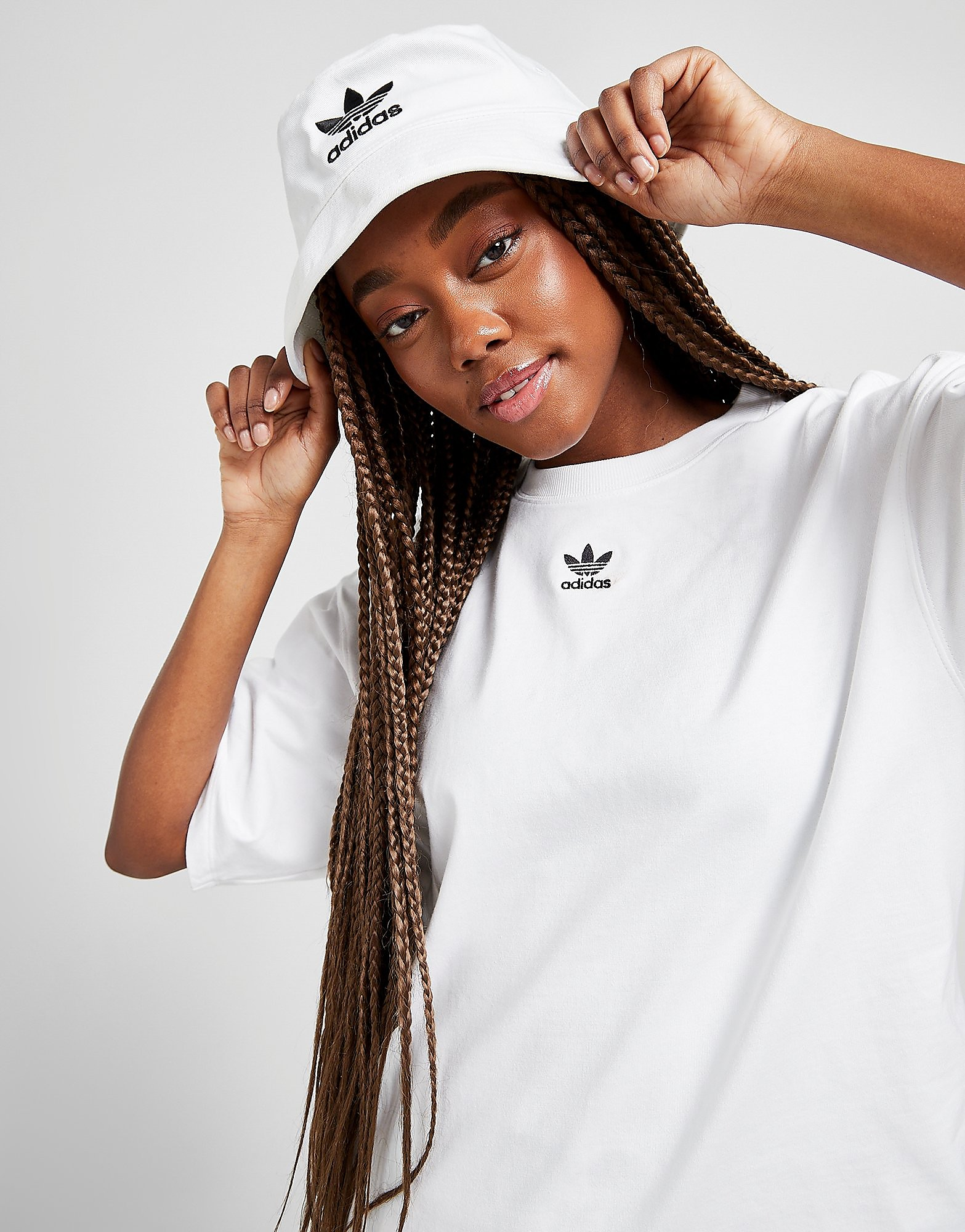 adidas Originals Essential Trefoil Boyfriend T-Shirt Women's, Vit
