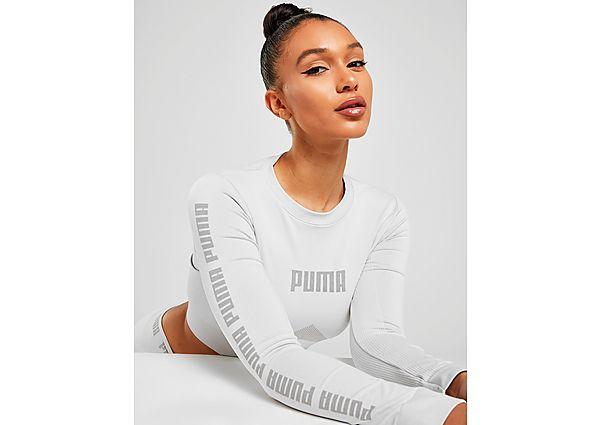 Ropa deportiva Mujer Puma evoKNIT Seamless Long Sleeve Crop T-Shirt