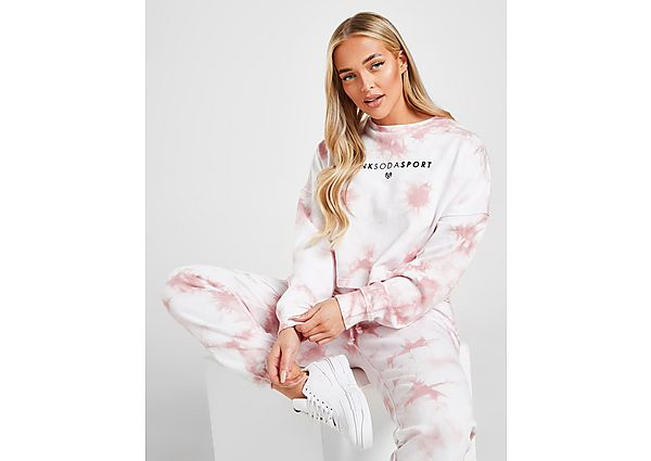 Ropa deportiva Mujer Pink Soda Sport Tie Dye Crop Crew Sweatshirt