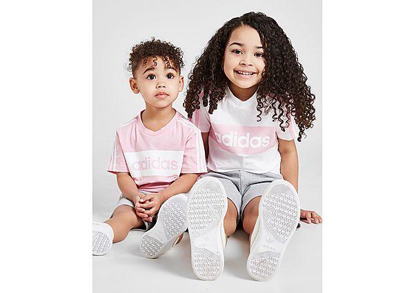 Comprar Ropa deportiva para niños online adidas Girls' Linear Essential T-Shirt/Short Set Children