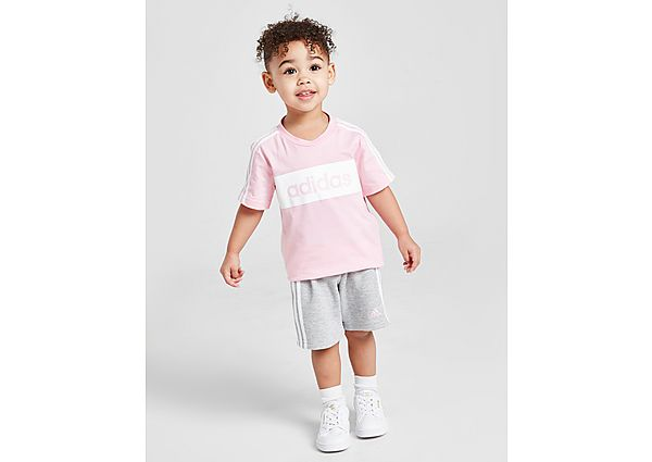 Comprar Ropa deportiva para niños online adidas Girls' Linear Essential T-Shirt/Shorts Set Infant