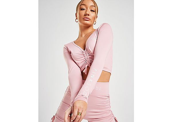 Ropa deportiva Mujer Pink Soda Sport Ruched Long Sleeve Crop Top