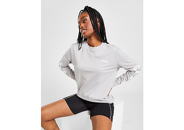 Ropa deportiva Mujer Fila Long Sleeve Repeat Logo Boyfriend T-Shirt