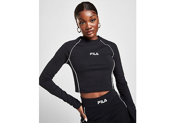 Ropa deportiva Mujer Fila Pipe Panel Long Sleeve Crop T-Shirt