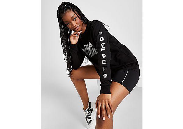 Ropa deportiva Mujer Fila camiseta de manga larga Grid Boyfriend