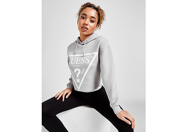 Ropa deportiva Mujer GUESS Triangle Logo Crop Hoodie