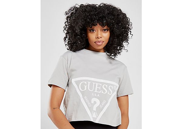 Ropa deportiva Mujer GUESS camiseta Crop Triangle Logo