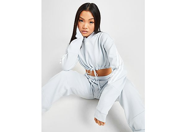 Ropa deportiva Mujer adidas sudadera microcrop con capucha 3-Stripes